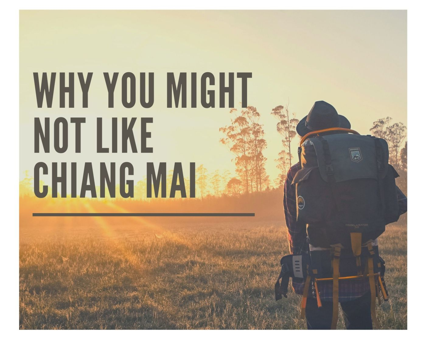 why you might not like chiang mai